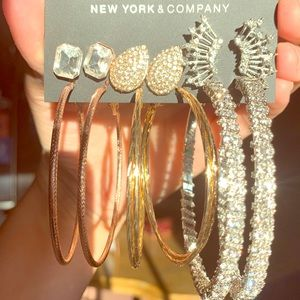 New York & Company: NWT 6 Pairs Earrings Set